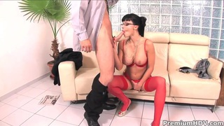 Cock addicted Aletta Ocean gets her holes drilled