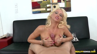 Attractive sexy blonde Trixie fucked rough and do blowjob