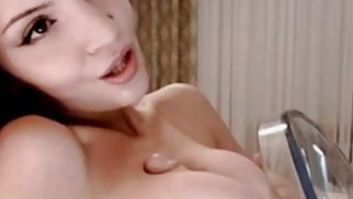 Homemade Titfucking with sex toy on webcam