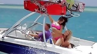 Curvy badass babes enjoyed kite surfing while all naked