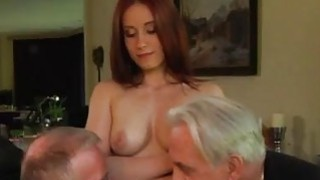Free old men having sex with young girls Minnie Manga licks breakfast