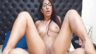 Hot Nerdy Babe Rides Her Horny Boyfriend Cock