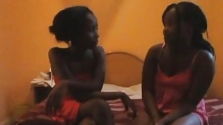 Shiro and Sharleen are two hot African lesbians addicted to pussy toying