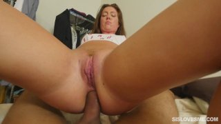 Curvy girl rides dick and takes it in the rear
