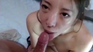 Pretty Japanese Creampied Twice on Webcam Part 2