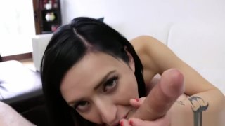 Cute Brunette fucks for the first time