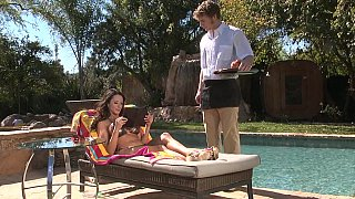 Poolside passions of a MILF