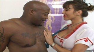 Ava Devine plays a horny hospital nurse with outstanding boobies