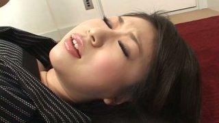 Beautiful brunette Yuuka Tsubasa getting pleased with vibrators